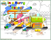 Back to School: In a Hurry to School Coloring